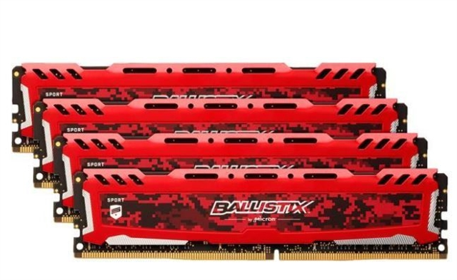 Ballistix Sport LT 64GB Kit (16GBx4) DDR4 2666