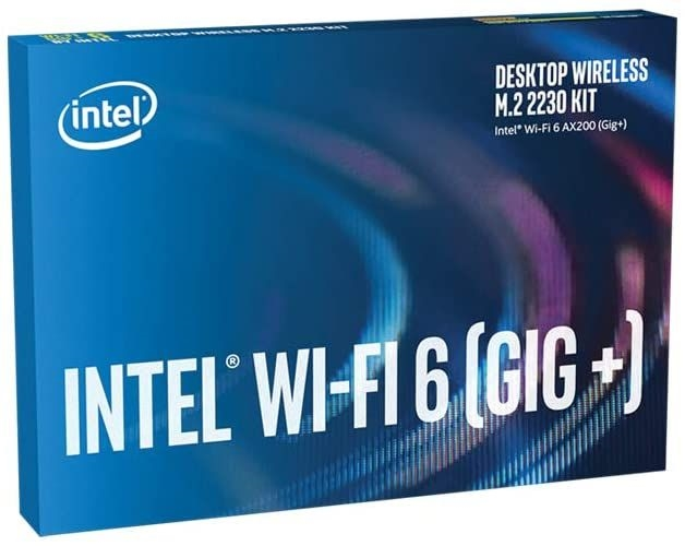 Intel Wi-Fi 6 (Gig+) Desktop Kit, AX200, 2230, 2x2 AX+BT, vPro